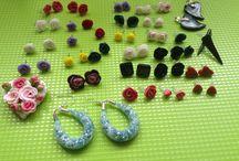 Koralkovanie, modelovanie z fima / Nausnice, koralky