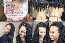 Faux locs, Crochet, Box braids, Senegalese twists and Natural hair