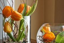 Virágok üvegbem