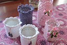Häkeln Stricken Selbstgemachtes bemalte Steine Stone-Painting Crochet Decoupage Serviettentechnik