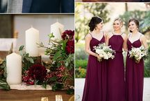 Your Fall Wedding Inspiration / The perfect fall wedding bridesmaid and groomsmen ensembles and fall wedding inspiration featuring gorgeous deep tones.