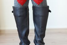 Knit boot cuff