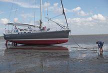 Aluminium sailing yacht
