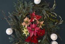 Advent Wreath with Poinsettia