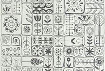 Doodles and designs. / line art borders, motifs and doodles
