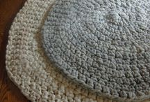 Crochet and knitting rugs and baskets