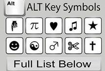 PC symbols Alt key
