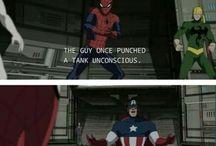Superheroes, villains n' crap