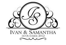 monograms wedding logo