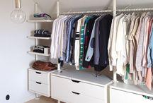 Huset alkover/Walk in closet