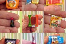 comidas em miniatura
