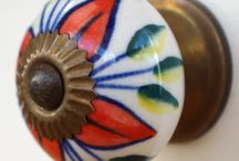 Artisan Range with antique gold coloured fixings / Fantastic range of handpainted doorknobs