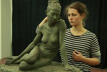 Sculpting Clay / Pins featuring sculpting in clay, armatures, and sculptors with their work.