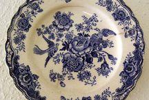 Blue n White plates
