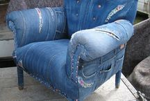 upholstery with jeans