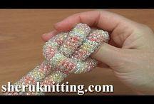 beaded crochet rope