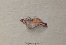 Art: Teeny, Tiny Art ~ A Painting a Day