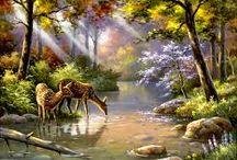 Картина(Лес и его жители)