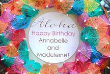 Hawaiian Birthday Theme