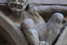 GARGOYLES / Sculpture, gargoyle
