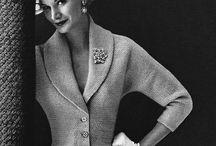 Vintage fashion fifties (1940-1950) / Designer kleding uit de vijftiger jaren. Vintage damesmode van tussen 1940 en 1950. The fifties....