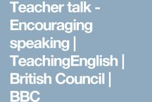 Teacher Talk-Encouraging speaking