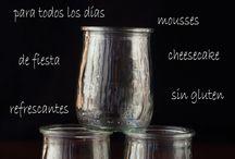 aperitivos en vasos