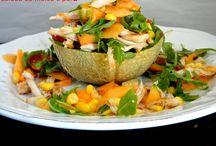 saladas e massas