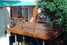 Wooden Decking / A selection of wooden decking for outdoors.