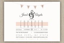 °•engagement party invites•° / Time to tell everyone. .