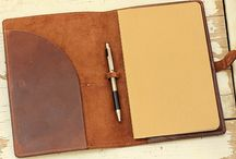 Leather Notebooks / The beauty of a leather covered notebook.