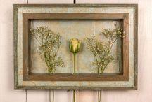 "COLOREL-Rahmen mit Blumenvasen ""Barock mint/gold"""