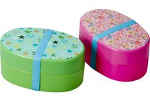 Lunchtime and snack time / Colourful lunch boxes and bags