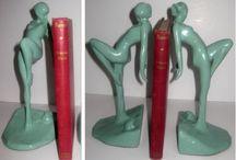 Art Deco / Lamps, bookends, 1920s decor pieces, Frankart, architectural motifs / by Lez Sackin
