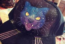 personalised hat / galactic cat hat, personalised item made by Maleficum available for 30$ for more leave me a message