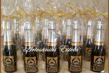 Botellitas De Champagne Personalizadas Para Souvenir