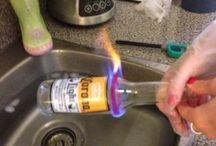 drinkglas uit  fles maken