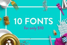 The Ten for $10 Bundle / Purchase this amazing pack of ten beautifully hand-crafted fonts for just $10! That's just $1 per font. But hurry this offer is only available for a limited period of time.