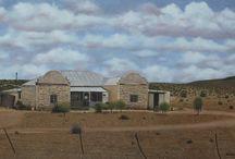 """Art / """"Nuwe Karooplaas""""  Oil on Canvas"""