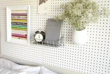 Pegboard for DIY Projects / Fun and creative ways to use pegboard