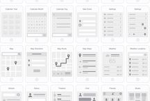 UX flow screens