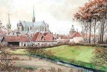 Historische illustraties / Tekeningen van Danker Jan Oreel