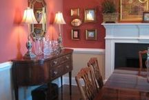 red dining room / by Deana McGarr