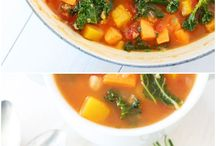 Soups, vegan and healthy