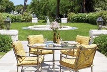 Divine outdoor dining / Nothing is better than dining outdoors.  Here is some inspiration for you.  For even more inspiration, or to buy a beautiful patio dining set, visit our showroom: 825 S. Lindbergh Blvd. Saint Louis, MO 63131  www.forshaws.com