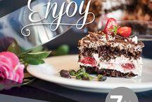 """Prăjitura aniversară """"Enjoy"""" 25 de ani / Am creat un desert deosebit, potrivit pentru sărbătorirea unui sfert de secol în industria ospitalității. Te invităm să te bucuri de prăjitura aniversară """"Enjoy"""": https://continentalhotels.ro/tip-oferta/prajitura-aniversara"""