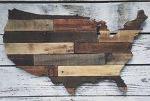 Mapa z drewna