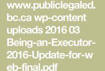 Executor/Administrator resources