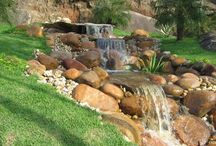 Cascada waterfall design artificial flowing water landscaping