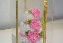 bolo de casamento de croche